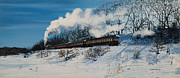 Railroad Snow Paintings - Woodbury NY by Louis Mallard