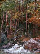 Georgia Pastels - Wooded Creek by Estelle Schwarz