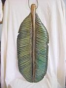 Featured Reliefs - Wooden Banana Leaf-SOLD by Lisa Ruggiero