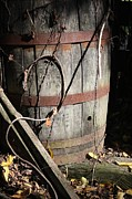 Metamora Metal Prints - Wooden Barrel Metal Print by Mike Lytle