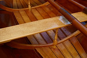 Noel Elliot Art - Wooden Boat and Oars by Noel Elliot
