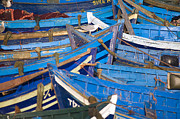 Trawler Metal Prints - Wooden Boats, Essaouria, Atlantic Coast, Morocco Metal Print by Ben Pipe Photography