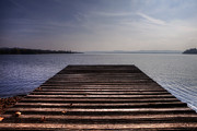 Fishing Pier Posters - Wooden Bridge Poster by Joana Kruse