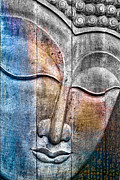 Buddha Photo Metal Prints - Wooden Buddha Metal Print by Carol Leigh
