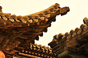 Carving Framed Prints - Wooden Carving In Qiao Courtyard, Shanxi Framed Print by Huang Xin