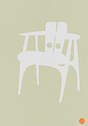 Mid Century Design Digital Art Posters - Wooden Chair Poster by Irina  March