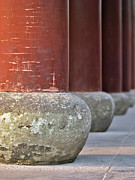 Conformity Photos - Wooden Columns And Stone Bases by Tom Horton, Further To Fly Photography