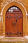 Tower Of London Prints - Wooden Door at Tower Hill Print by Christi Kraft
