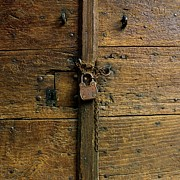 Closed Photos - Wooden door by Bernard Jaubert