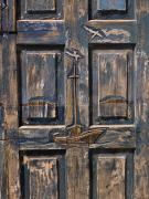 Architectural Details Prints - Wooden Door Print by Keith Levit