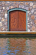 Wooden Door Print by Susan Leggett