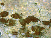 Canadian Geese Digital Art - Wooden Geese by Robert Ball