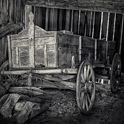 Horse And Cart Photos - Wooden Horse Drawn Cart by Ian Barber