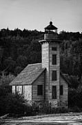 White Lighthouse Prints - Wooden Lighthouse Print by Sebastian Musial