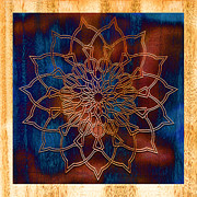 Meditative Digital Art Prints - Wooden Mandala Print by Hakon Soreide