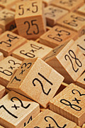 Y120817 Art - Wooden Number Puzzle by David Gould