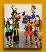 Doll Sculpture Prints - Wooden people Print by Nataly Fomina