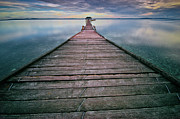 Sea Photography Photos - Wooden Pier by Landscape Artist