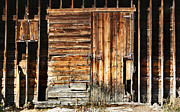 Barn Door Framed Prints - Wooden Slats Barn Framed Print by Marilyn Hunt