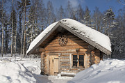 Log Cabin Photos - Wooden Smoke Sauana by Jaak Nilson
