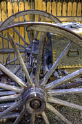 Farm Wagon Framed Prints - Wooden Spokes Framed Print by David Bearden