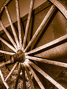 Ore Cart Prints - Wooden Spokes Print by Joe Schofield