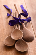 Wooden Spoons Framed Prints - Wooden Spoons Framed Print by Christopher and Amanda Elwell