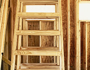 Wooden Building Framed Prints - Wooden Step Ladder Framed Print by Skip Nall