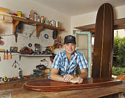 Coffee Table Sculptures - Wooden Surfboards by Erik Hurst