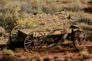 Old Wooden Wagon Prints - Wooden Wagon Print by Robert  Torkomian