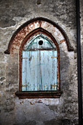 Old Wood Building Photos - Wooden Window Shutters by Joana Kruse