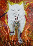 Team Mixed Media - Woodgate Spirit Wolf by Matt Gregor