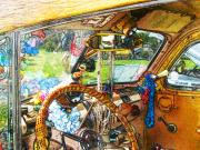 Woodie Digital Art - Woodie World by Deborah Hildinger