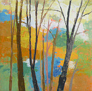 Original Fall Landscape Paintings - Woodland #3 by Melody Cleary