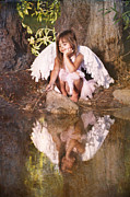 Little Girl Prints - Woodland Fairy Print by Cindy Singleton