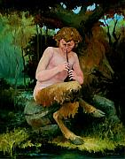 Faun Paintings - Woodland Faun by Patrick Hiatt