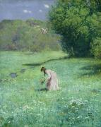 1876 Paintings - Woodland Meadow by Hans Thoma