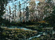 Irish Paintings - Woodland Pond by Liam Rainsford
