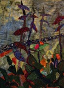 Spring Tapestries - Textiles - Woodland Warriors by A Carole Grant