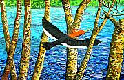 Landscape-like Art Paintings - Woodpecker 2 by Javier Molina