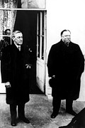 Featured Art - Woodrow Wilson And William Howard Taft by Everett