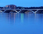 Beltway Framed Prints - Woodrow Wilson Bridge  Framed Print by CK Knudson