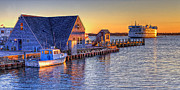 Lobster Boat Framed Prints - Woods Hole Sunset Framed Print by Michael Petrizzo
