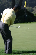Tiger Woods Photos - Woods swing by Chuck Kuhn