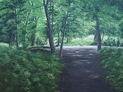 Irish Artists Painting Originals - Woodsandwater by Robert Gary Chestnutt