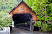 Covered Bridge Photo Framed Prints - Woodstock Middle Bridge Framed Print by Susan Cole Kelly