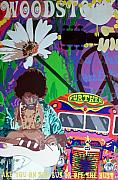 1969 Mixed Media - Woodstock by Samitha Hess
