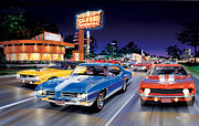 Fast Food Art - Woodward Avenue by Bruce Kaiser