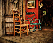 Rocking Chairs Photos - WoodWorkers Porch by Pat Abbott