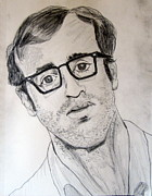 Award Drawings Prints - Woody Allen Actor Director All Around Funny  Guy Print by Donald William